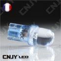 AMPOULE 1 LED BLEU CONVEXE T10 W5W 24V DC -CULOT W2.1x9.5D POUR VEILLEUSE, FEUX DE PLAQUE, GABARIT CAMION