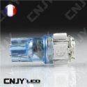AMPOULE 5 LED SMD BLEU T10 W5W 24V DC -CULOT W2.1x9.5D POUR VEILLEUSE, FEUX DE PLAQUE, GABARIT CAMION