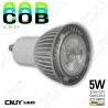 AMPOULE LED COB 5W (rendu 50W) 12V DC / 220V AC GU10-MR16-E27-E14 BLANC CHAUD ou FROID - CE ROHS