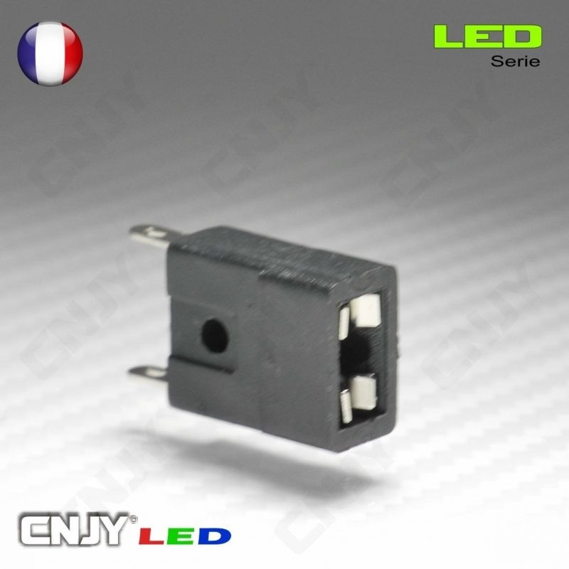 1 SUPPORT D'AMPOULE LED T10 CONTACT - SOQUET POUR COMPTEUR