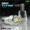 2 AMPOULES VEILLEUSES LED POUR AUDI A4-B5 - T10 W5W POUR VERSION AVEC OPTIQUE DOUBLE (croisement et route sur ampoules séparées)