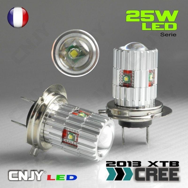 2 AMPOULES LED H7 CREE 50W POUR ANTI BROUILLARD SUR AUDI A4-B5 à partir de 1999