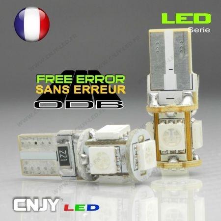 2 AMPOULES LED WY5W ORANGE POUR REPETITEUR LATERAUX SUR AUDI A4-B5