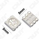 LOT DE 20 LED CMS 5050 SMD A SOUDER BLANC FROID 6000K 3.2V