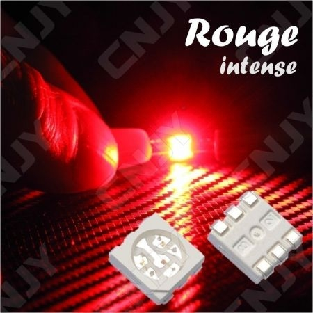 LOT DE 20 LED CMS 5050 SMD A SOUDER ROUGE 2.3V