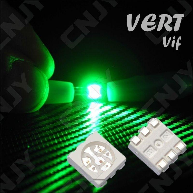 LOT DE 20 LED CMS 5050 SMD A SOUDER VERT 3V