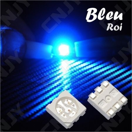 LOT DE 20 LED CMS 5050 SMD A SOUDER BLEU 3V