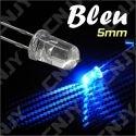 LOT DE 20 LED 5MM RONDE A SOUDER COULEUR BLEU 3V