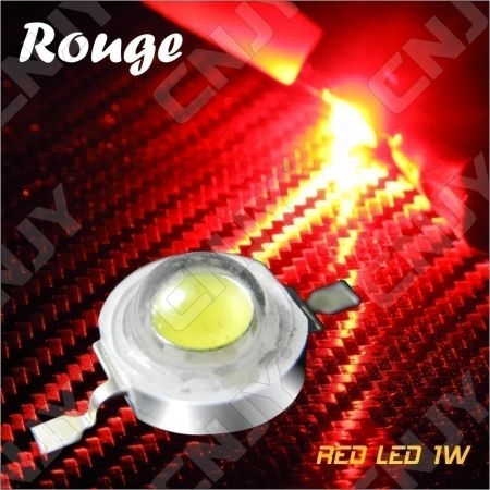 LOT DE 5 LED DEL 8MM 1W 3W A SOUDER COULEUR ROUGE 3V