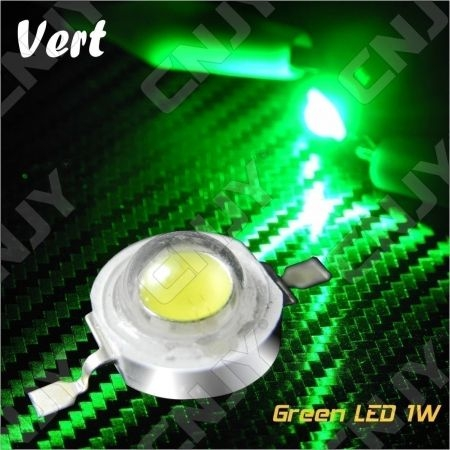 LOT DE 5 LED DEL 8MM 1W 3W A SOUDER COULEUR VERT 3V