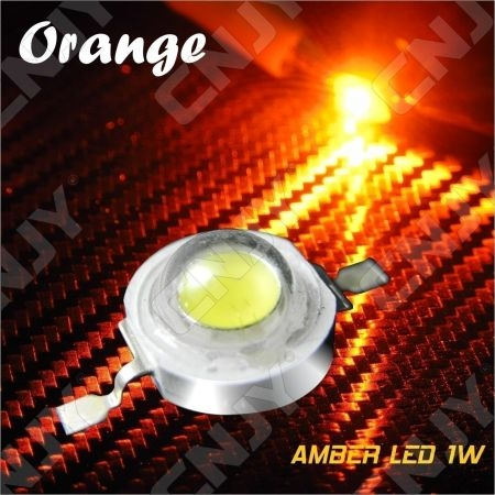 LOT DE 5 LED DEL 8MM 1W 3W SOUDER COULEUR ORANGE AMBRE