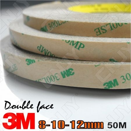 ROULEAU ADHESIF 3M 8-10-12mm x 50M - SCOTCH 300 SLE DOUBLE FACE ADHESIVE TAPE ROLL TRANSPARENT