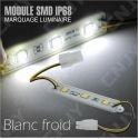 1 MODULE LED CABLE 3SMD 5050 BLANC FROID ETANCHE IP68 POUR MARQUAGE PUBLICITAIRE TUNING DECORATION 12VDC