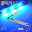1 MODULE LED CABLE 3SMD 5050 BLEU ETANCHE IP68 POUR MARQUAGE PUBLICITAIRE TUNING DECORATION 12VDC