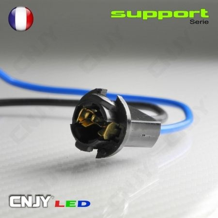 1 SOQUET SUPPORT LED CABLE - POUR AMPOULE T10 W5W LED