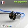 1 SOQUET SUPPORT LED CABLE - POUR AMPOULE T10 W5W LED