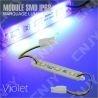 1 MODULE LED CABLE 3SMD 5050 VIOLET ETANCHE IP68 POUR MARQUAGE PUBLICITAIRE TUNING DECORATION 12VDC