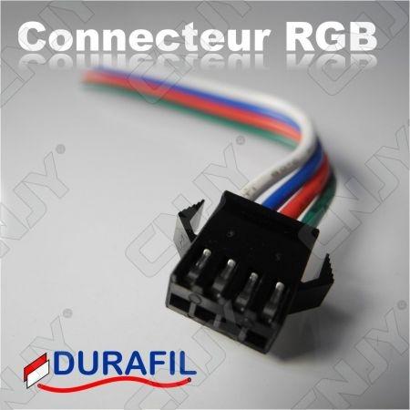 1 PAIRE DE CONNECTEUR RGB 10CM MALE-FEMELLE