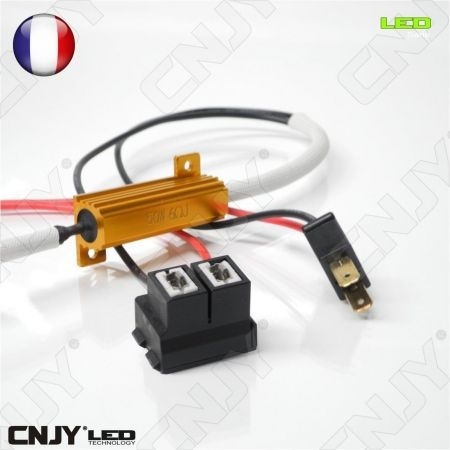 1 RESISTANCE H7 55W PLUG & PLAY SONAR CORRECTION ANTI/SANS ERREUR ODB LED CABLE POUR PHARE ANTI BROUILLARD