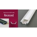 RAIL EN ALUMINIUM D'ECLAIRAGE INDIRECT A LED RIGIDE OU SOUPLE