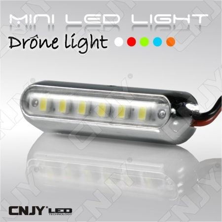 Drone Led Light - Mini feux léger pour éclairage et signalisation led sur drone 12V dc BLANC-ORANGE-BLEU-ROUGE-VERT