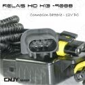 RELAIS D'ALIMENTATION BALLAST A CULOT H13 HI/LOW FONCTION - feux de croisement & route -12V DC