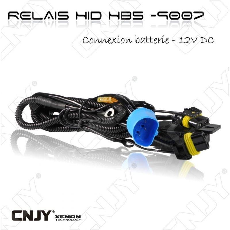 RELAIS D'ALIMENTATION BALLAST A CULOT HB5-9007 HI/LOW FONCTION - feux de croisement & route -12V DC