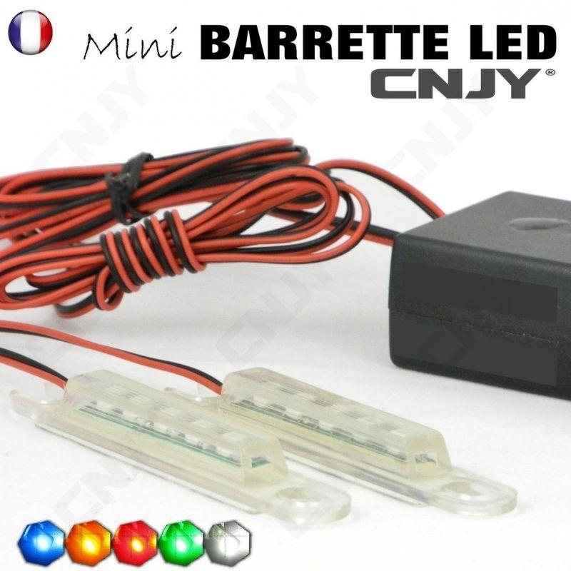 KIT de mini barrette led clignotante pour signalisation légère adhésive, mini feux de pénétration MBL-01