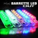 barre de led adhésive effet flash stroboscopique orange, bleu, blanc, vert, rouge.