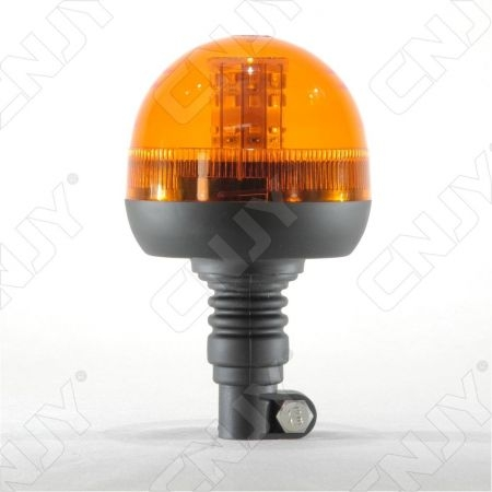 Gyrophare 40 led 12W orange sur mât flexible ECE R65