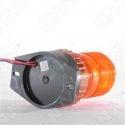 Gyrophare à éclat 5W orange idéal pour chariot élévateur 12v