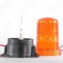 Gyrophare à éclat 5W orange idéal pour chariot élévateur 24v