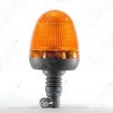 Gyrophare 60 led 10W obus orange sur mât flexible ECE R65 12V 24V