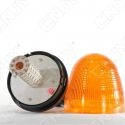 Gyrophare 60 led 10W obus orange sur mât flexible