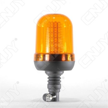 Gyrophare 120 led 12W orange sur mât flexible ECE R65
