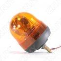 Gyrophare rotatif halogène orange 55w obus à visser ECE R65 12v 24V