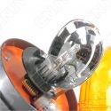 Gyrophare rotatif halogène orange 55w obus à visser ECE R65 24V