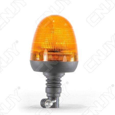 Gyrophare rotatif halogène orange 55w sur mât flexible ECE R65
