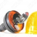 Gyrophare rotatif agricole halogène orange 55w sur mât flexible
