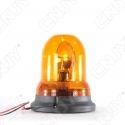 Gyrophare rotatif halogène orange 55w ogive magnétique ECE R65