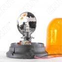 Gyrophare rotatif halogène orange 55w ogive magnétique ECE R65 12V