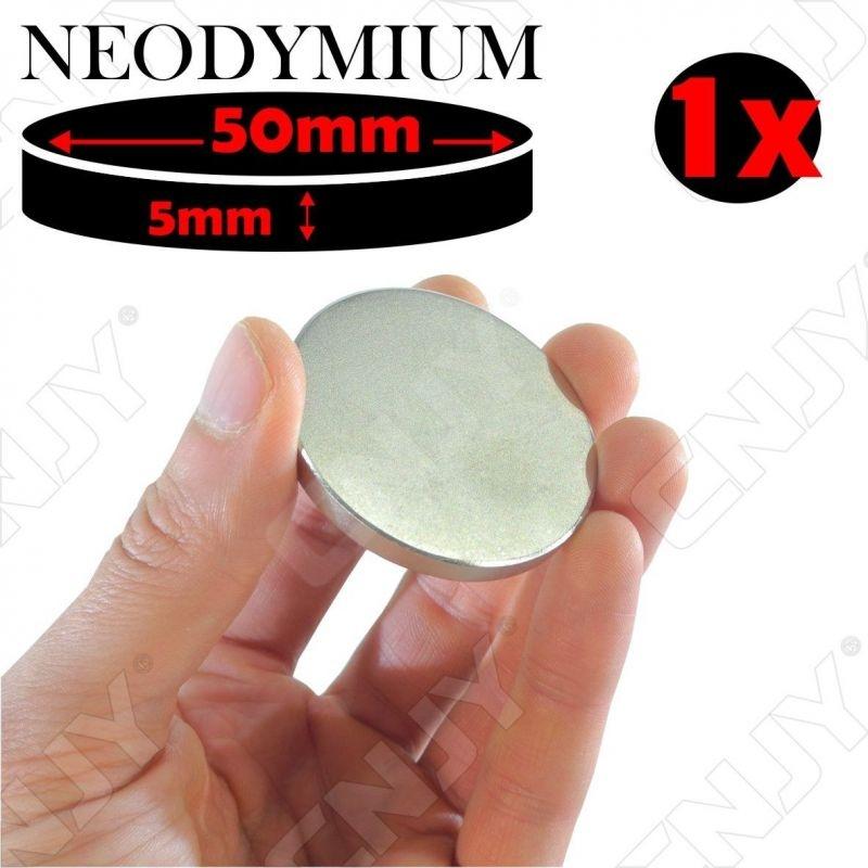 Disque magnétique adhésif neodymium 50mm N52 45Kg