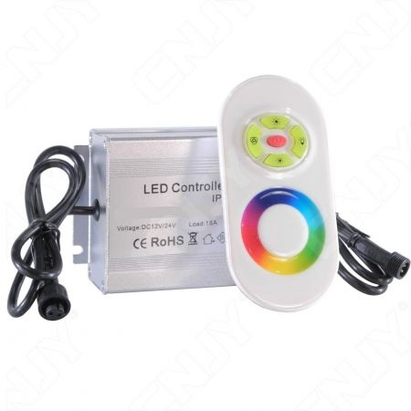CONTROLEUR RGB DX4 TACTILE POUR DALLE MULTICOLORE DCL-02A AVEC CONNECTEUR ETANCHE