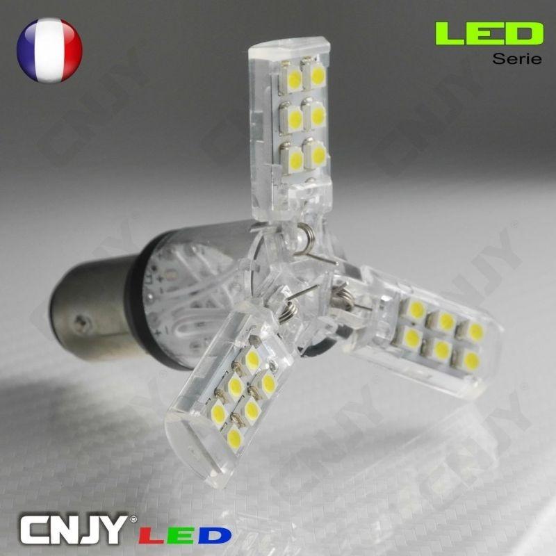 1 AMPOULE 9W LED CREE LENS BA15S SPECIAL FEUX DE RECUL CULOT COMPATIBLE P21W 1156