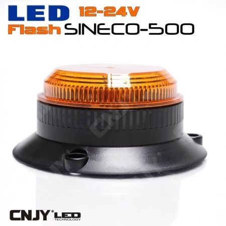 Feux à éclat led 12w Sinéco orange type gyrophare orange E4