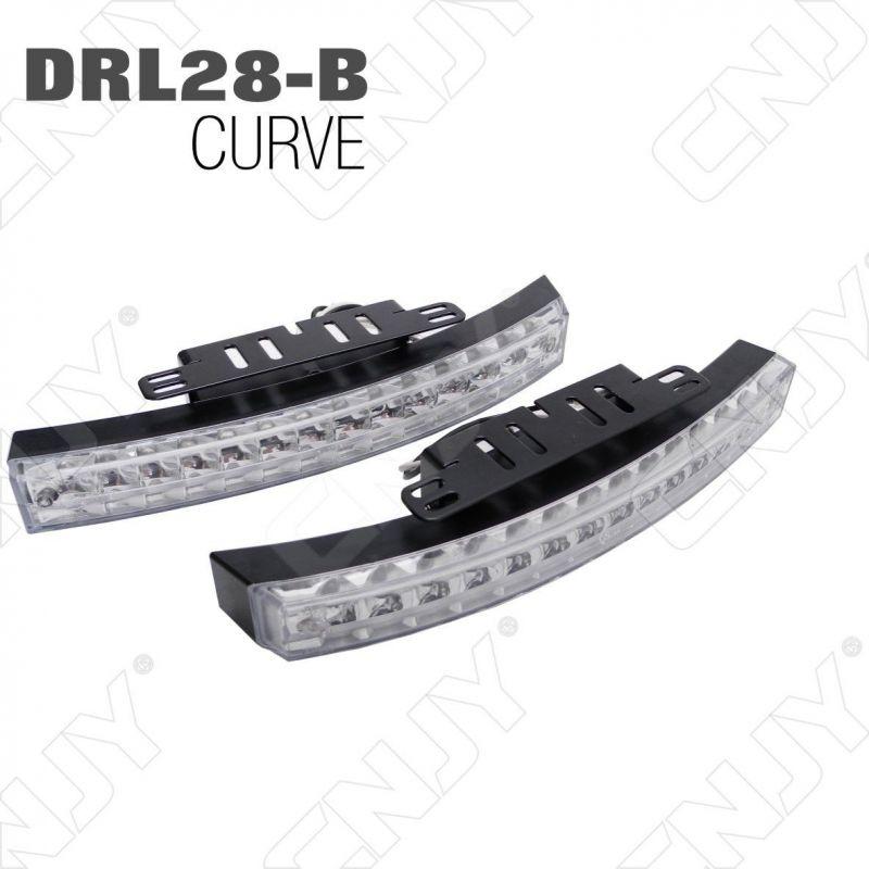 KIT FEUX DE JOUR DIURNE DRL-28B CURVE 2x6.5W LED 5500K POSE CALANDRE