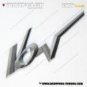 EMBLEME LOGO 16V 3D CARROSSERIE AUTO ADHESIF CHROME PLASTIQUE ABS HAUTE RESISTANCE