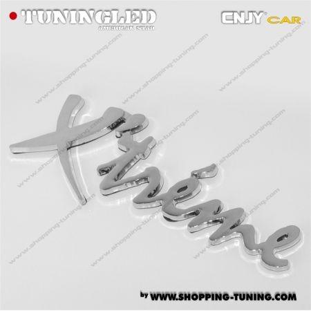 EMBLEME X'TREME 3D CARROSSERIE AUTO ADHESIF CHROME PLASTIQUE ABS HAUTE RESISTANCE