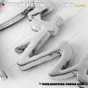EMBLEME DRAGON 3D CARROSSERIE AUTO ADHESIF CHROME PLASTIQUE ABS HAUTE RESISTANCE