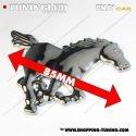 EMBLEME CHEVAL DROIT 3D CARROSSERIE AUTO ADHESIF CHROME PLASTIQUE ABS HAUTE RESISTANCE